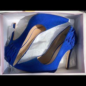 Brand New Blue Suede Heels